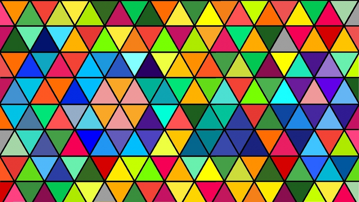 triangles couleurs